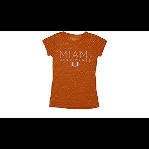 Other - NWT Miami Hurricanes tee, orange, youth M